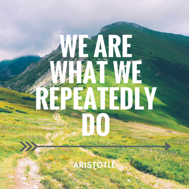 Quote: We become what we repeatedly do Aristotle
